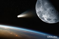 Клипарт depositphotos.com, комета, луна, атмосфера, земля, падающая комета