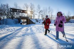 СК «Калининец». Екатеринбург, зима, скандинавская ходьба