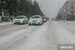 Город в снегу. Курган, снегопад, ветер, пурга, снег в городе, нечищенная дорога