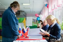 Единый день голосования 10 сентября 2017 года в РФ. Сургут, выборы, избирателный участок, голосование