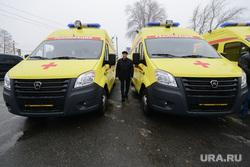 Пресс-тур на территорию медгородка, открытие новой поликлиники, вручение автомобилей скорой медицинской помощи. Челябинск, реанимация, тефтелев евгений, скорая помощь