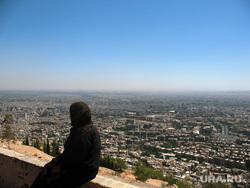 Клипарт depositphotos.com, Сирия, Дамаск, мусульманка, городской пейзаж
