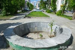 Неблагоустроенный Екатеринбург, переулок банковский, фонтан не работает