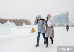 Метель в городе. Сургут, непогода, метель, снегопад, зима