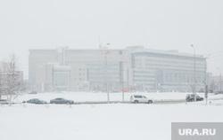 Метель в городе. Сургут, непогода, метель, снегопад, зима, офис сургутнефтегаз
