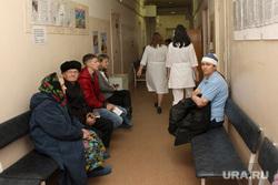 Выездная комиссия гордумы во 2 городскую больницу Курган, коридор больницы
