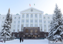 Административные здания Ханты-Мансийска. Иллюстрации, дом правительства, хмао