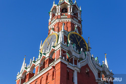 Клипарт, часы на башне, город москва, кремль