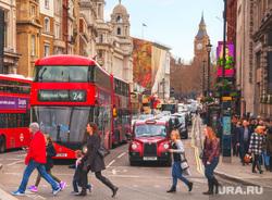 Лондон, Великобритания, пешеходный переход, лондон, биг бен, двухэтажный автобус
