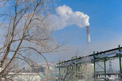 Рабочая поездка губернатора Дубровского в Ашу. Челябинск, дым, зима, смог, труба