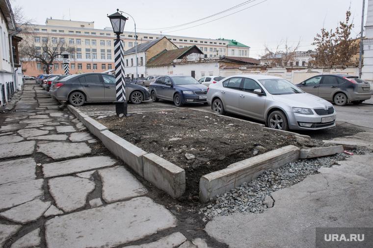 Состояние дорог Екатеринбурга, тротуар, пешеходная зона, литературный квартал