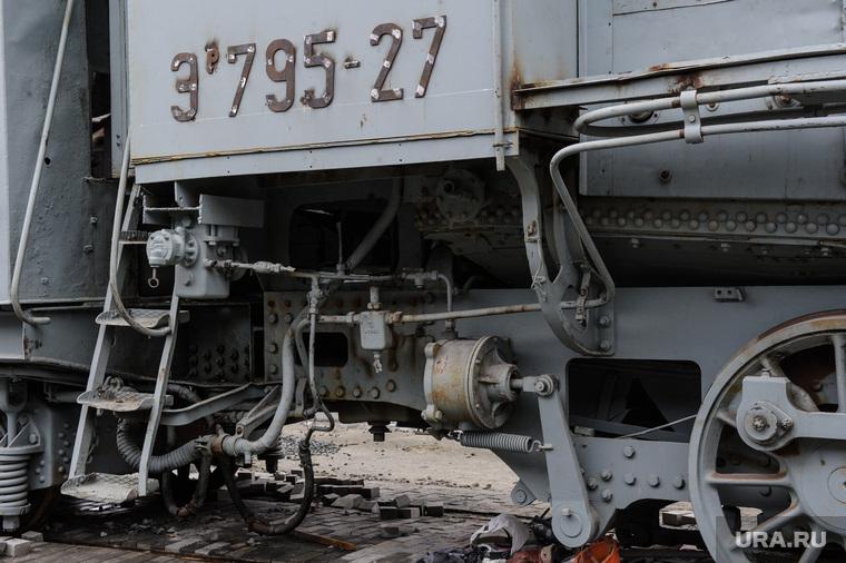 Паровоз серии Эр в экспозиции Музея военной техники УГМК. Верхняя Пышма, модель паровоза
