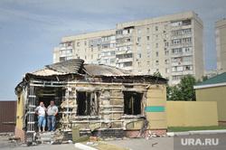 Брошенная часть в Луганске. Украина, развалины, разруха