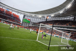 Вокруг первого матча на стадионе «Екатеринбург Арена», футбол, футбольное поле, футбольные ворота, екатеринбург-арена