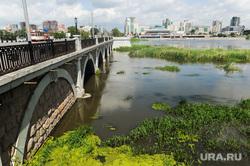 Места под объекты ШОС и БРИКС. Челябинск, река миасс, троицкий мост со стороны филармонии