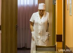 Психоневрологическая областная больница №5. Магнитогорск, коридор, стол, медсестра, стулья, больница