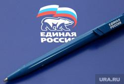 Заседание отделения Единой России Курган, ручка, единая россия