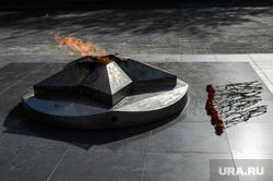 Рабочий визит Дубровского в Златоуст и Миасс. Челябинск, мемориал, вечный огонь