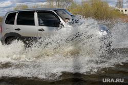Паводок шоссе Тюнина Курган, нива в воде
