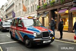 Лондон, Великобритания, лондон, флаг великобритании, лондонское такси