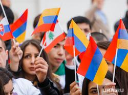 Шествие посвященное столетию геноцида армян. Екатеринбург, армения, флаги