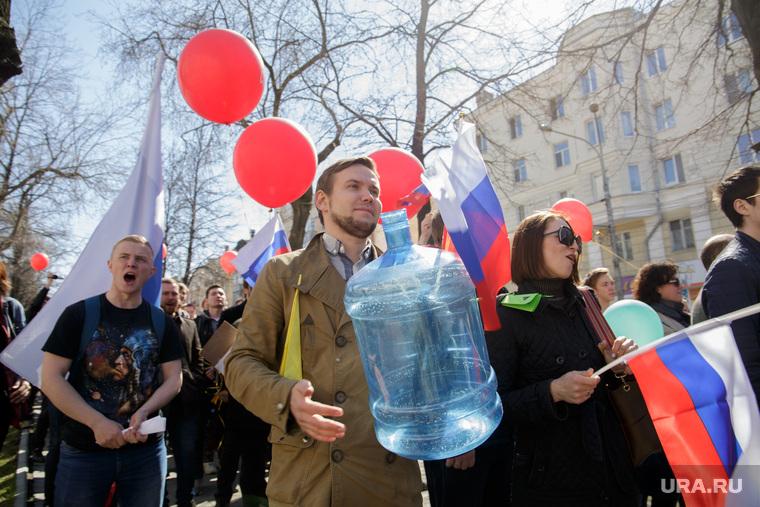 Шествие сторонников Навального. Пермь