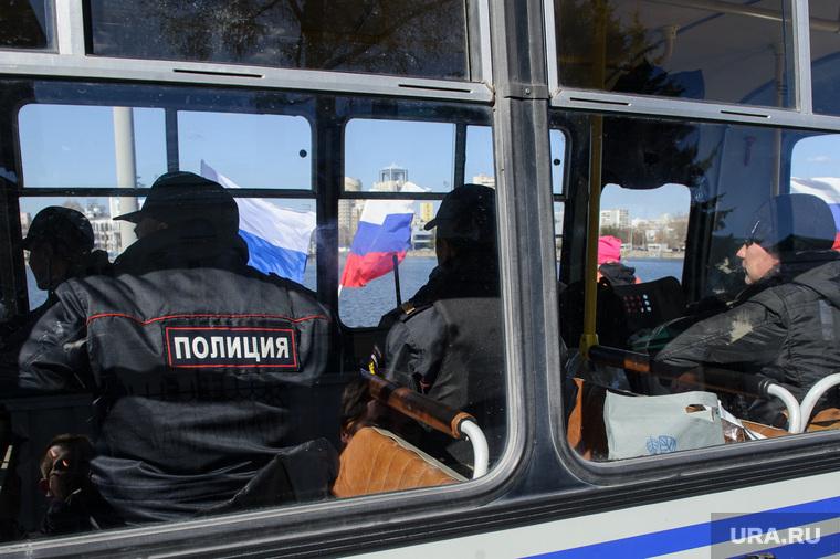 Несанкционированная акция сторонников Алексея Навального. Екатеринбург
