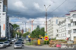 Виды Екатеринбурга, дорожные работы, перекресток попова малышева