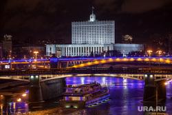 Москва, разное., белый дом, кораблик, москва-река, вечерний город, здание правительства рф, мосты