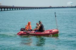 Строительство Керченского моста, лодка, керченский мост, крымский мост