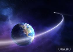 Клипарт depositphotos.com, метеорит, комета, планета земля, астрономия, галактика, метеор