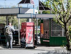 Незаконная продажа алкоголя в киоске. Курган, киоск, остановочный комплекс