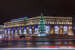 Москва, разное., елка, лубянская площадь, вечерняя москва, центральный детский мир, город москва