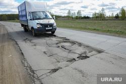 Дорога на Озерск Челябинск, яма, ухабы, газель