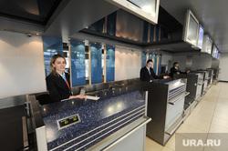 Аэропорт Челябинск, аэропорт, стойки регистрации