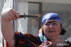 Пресс-тур по Синегорью Челябинск, нож, женщина с ножем