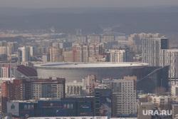 Екатеринбург готовится к ЧМ-2018, дым, смог, чм2018, центральный стадион, вид города, вид сверху