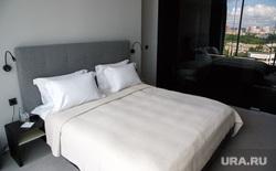 Отель «Резиденция» при Ельцин Центре. Екатеринбург, спальная, кровать, интерьер, спальня