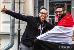 Иностранные болельщики в Екатеринбурге, болельщики, флаг египта