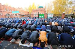 Курбан байрам. Челябинск., молитва, мечеть, мусульмане, намаз