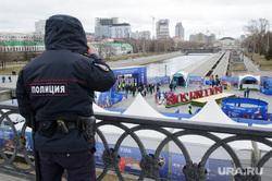 Открытие футбольного парка в Историческом сквере Екатеринбурга, полиция, охрана правопорядка