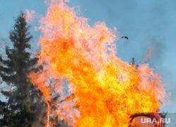 Масленица в ЦПКиО. Курган, традиции, чучело горит, огонь, масленица, народные гуляния, праздник