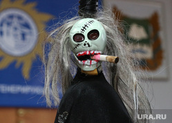 Акция против курения Курган, сигарета, череп, акция против курения
