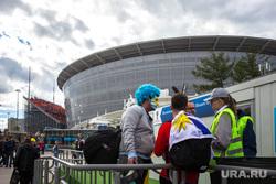 Перед матчем Египет - Уругвай. Екатеринбург, екатеринбург арена, болельщики, флаг уругвая, футбольные фанаты