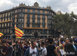Митинги в Барселоне. Выход Каталонии из состава Испании., флаг, забастовка, барселона, каталония