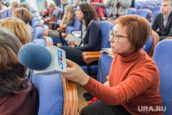 Пресс-конференция с Борисом Дубровским. Челябинск, телеканал отв, микрофон, журналист