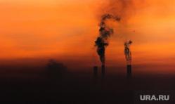 Вечерний Магнитогорск, экология, трубы дымят, утро, тэц, смог, магнитогорск