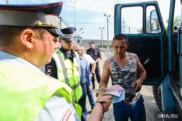 Рейд полиции и представителей Министерства экологии на челябинскую городскую свалку. Челябинск, рейд по проверке документов