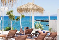 Греция. Крит., отдых, море, зонт, курорт, греция, лежак