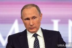 Пресс-конференция с Президентом России Владимиром Путиным. Архив. Москва, путин владимир